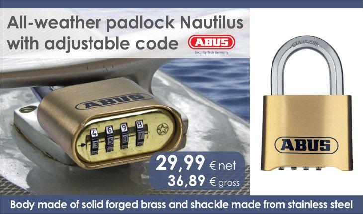 Kłódka szyfrowa ABUS 180IB/50 Nautilus z kutego mosiądzu-ang