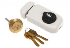 Rim Lock ZSW 3 Keys - White Varnish