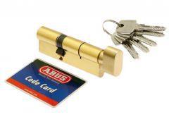 Cylinder lock ABUS KD10 30K/30 brass with knob 5.2 class