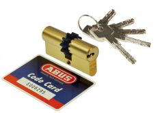 Cylinder Abus D10MM 30/35 brass, gear