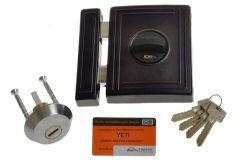 Rim Lock LOB TA01 YETI 1 certificated; C Class, Black, 3x keys