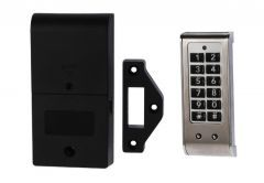 Electronic Lock KM-61K with Combination Keyboard for cabinets, Stainless Steel Panel