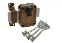 Rim Lock JANIA TYTAN 3, round escutcheon for rim key