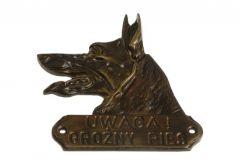 Sign BEWARE OF THE DOG! - Patina