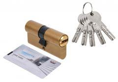 Cylinder DORMA DEC 261 30/30, brass 5 keys,
