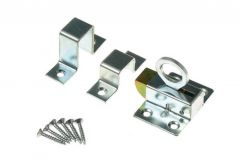 Window Spring Catch   galvanized - Silver