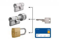 Master key system, key alike with Winkhaus VS cylinders (30/30x10,   3
