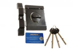 Rim Lock GERDA ZXL for Long Key GT8 (85 mm) - Graphite