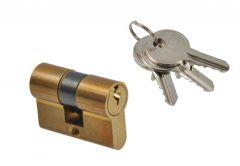 Cylinder lock ISEO F5 9/50 brass