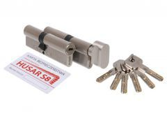Cylinder Set HUSAR S8 30/50 + 30K/50 Nickel Satin cl. C, 6 keys