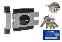 Rim Lock GERDA ZX 1000 certificated C Class - Satin