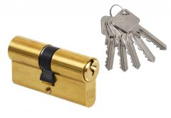 Cylinder lock LOB ARES WS52-30/30 A-2 Brass 5keys