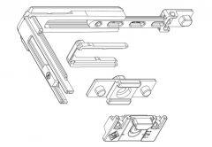 Additional corner MASTER + bolt point, for aluminium window