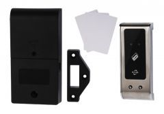 Electronic Lock KM-60 for Proximity Card (Mifare 13,56 MHz) for Cabinets, Stainless Steel Panel