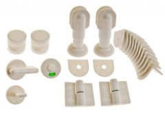 Installation of toilet toilet left SET white