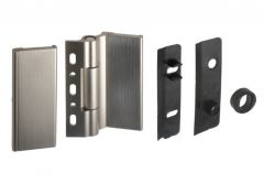 Vertical Hinge WTA for the glass panel with the thin grilles INOX and