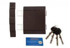 Rim Lock GERDA TYTAN  Z2 certificated C Class (1-sided) with anti-theft plate