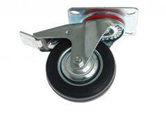 Swivel Castor CKPW-SG 80W-HC with brake - Black Gum (Capacity up to 50kg)