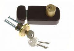 Rim Lock LOB TB62 Double-Cylinder, Brown