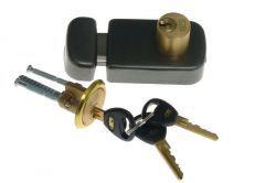 Rim Lock LOB TB62 Double-Cylinder, Graphite