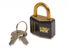 Padlock ABUS 718/30 Inox Brass, inside elements stainless steel
