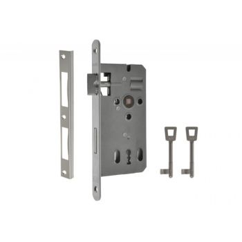 Mortise Lock KABA 72/50, BB - Galvanized Silver