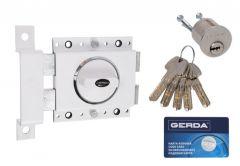 Rim Lock GERDA ZX 1000 Certificate C Class - White