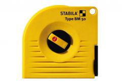 Measuring tape STABILA BM 50 W/30, steel, furled, white, long