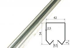 DIN Rail G1OZ (200/650kg) Slant, Diameter: 44