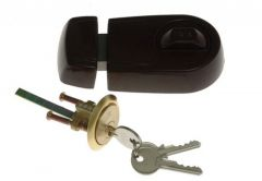 Rim Lock YALE Y2T Brown, Cut Key