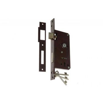Gate Mortise Lock 90/63,5 BB, Left - Varnish