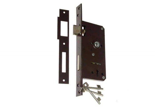 Gate Mortise Lock 90/63,5 BB, Left - Varnish
