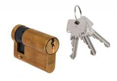Cylinder DORMA DEC 160 10/30, brass 3 keys