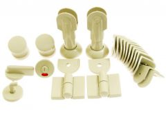 Toilet Installation WC, Right, thickness of plate 12-18mm - Beige Poly