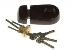 Rim Lock YALE Y2D Brawn, Drilled Key