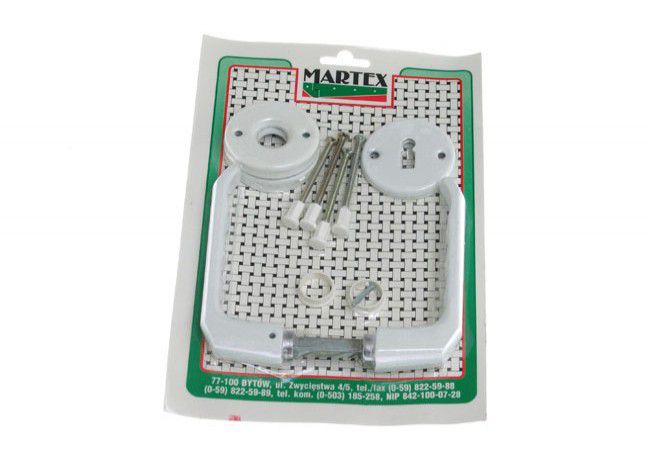 Handle with round plate BB - White