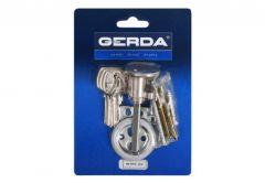 Cylinder for surface lock GERDA RIM E1 Nickel/ Satin (blister package)