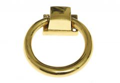 Door Knocker PAŁĄK External Diameter: 10 cm - Brass