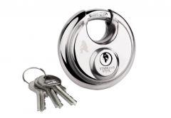 Padlock with Round Shackle KF-70 - Nickel