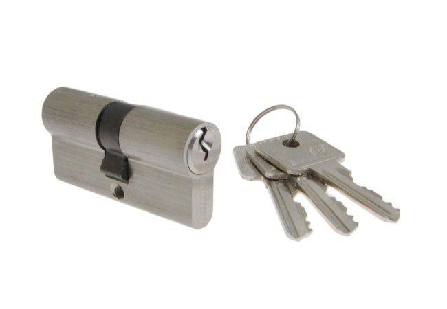 Cylinder lock B-Harko H6 35/35 nickel satin, key alike