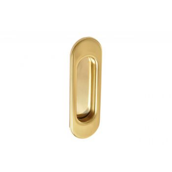 Pull Handle for Sliding Doors Oblong without hole - Gold