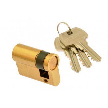 Cylinder lock Gerda E1 10/35, brass