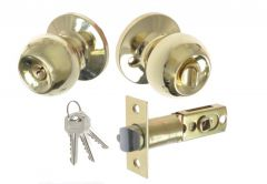 Door Round Knob  with Cylinder CH 6871, PZ - Brass