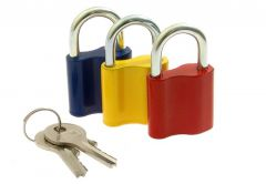 Padlock LOB KZ 30 Colour Mix - Zamak