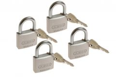 4 Padlocks ABUS TITALIUM 40 mm key alike, 5 keys