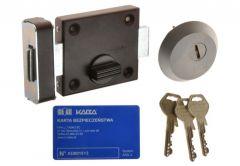 Rim Lock TASKO-3000, C Class Certficated, Satin/ Brown