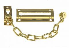 Surface Mounted Door Chain - Brass