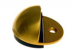 Door Stop, Screw-in, Hemisphere - Brass/ Satin