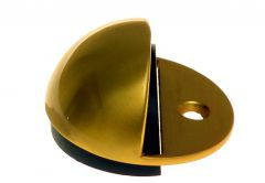 Door Stop, Screw-in, Hemisphere - Brass/ Satin
