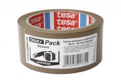 Packing Tape TESA SOLVENT length 66m, width 48mm (55263-00002-00) - Brown